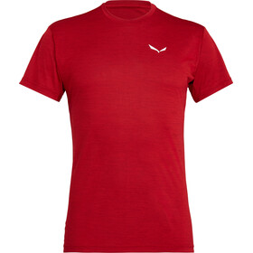 Salewa Puez Melange Dry - Camiseta manga corta Hombre - rojo